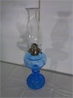 lampe  à l'huile bleue globe aigle