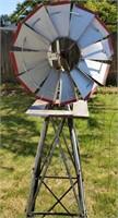 Metal Outdoor Windmill Decor