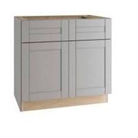 Gray Shaker Assembled Sink Base Cabinet