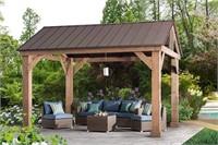 Cedar Wood Pavilion Pillars, (Incomplete Item)