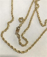 14KT YELLOW GOLD 28INCH 17.50 GRS ROPE CHAIN