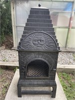 """Outdoor Fire Place, Steel - 20""""x17""""x48"""""""