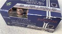 (20)*Lead Free* Fiocchi Blue Guardian 45 Auto Ammo