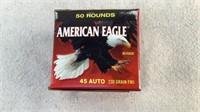 (50) Federal American Eagle 230gr 45 ACP FMJ Ammo
