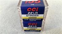 (2 times the bid) CCI Federal Stinger Varmint 22LR