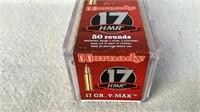 (50) Hornady V-MAX 17 HMR Ammunition