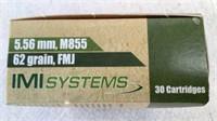 (30) IMI Systems 5.56mm M855 Ammunition