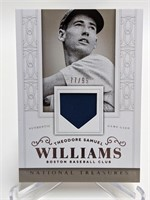 77/99 2014 National Treasures Ted Williams Relic