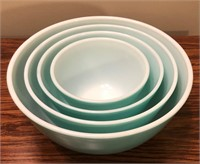 Turquoise Pyrex Bowls