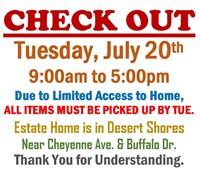 7/19 - Monday Desert Shores Estate On-site Auction @6pm