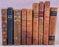 Leather bound volumes in French, others,