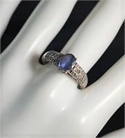 14K White Gold Ring w/ Stone