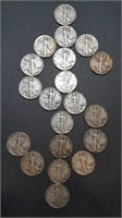 Roll of 20 Walking Liberty Halves - STACK ATTACK!