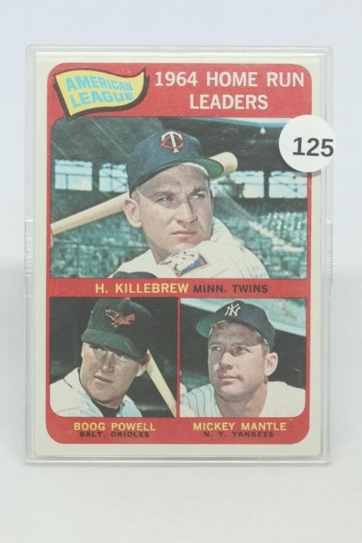 Sports Card and Collectible Auction Ending Aug 4th.