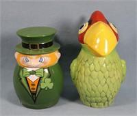 Webco Parrot & Leprechaun Beer Steins