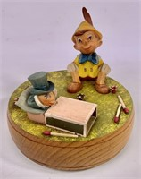 Pinocchio music box - Italy by ANRI, wooden,