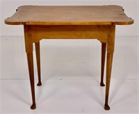 Cherry tea table, game table top,  cabriole legs
