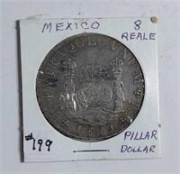 "1769  8 Reale  ""Pillar dollar or piece of eight"""