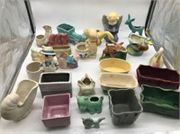 Large lot of McCoy pottery