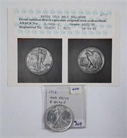 1916  Walking Liberty Half Dollar  Photograde