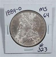 1884-O  Morgan Dollar   MS-64