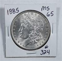 1885  Morgan Dollar   MS-65