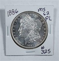 1886  Morgan Dollar   MS-62 PL
