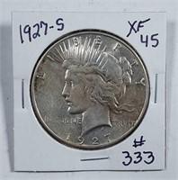 1927-S  Peace Dollar   XF-45