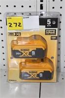 2-DEWALT 20V XR BATTERY PACKS