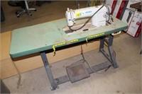 JUKI DDL=8500 SEWING MACHINE & TABLE