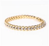 Jewelry 14kt Yellow Gold Diamond Bracelet