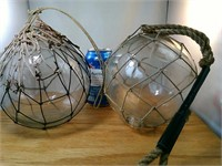 2 Large Glass Floats