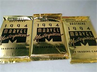 3 packs,1994 Marvel Masterpieces, Hildebrandt