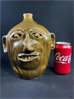 Reggie Meaders Pottery Face Jug