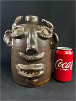 Jerry Brown Pottery Face Jug