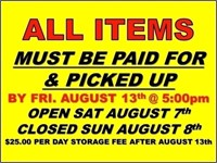AUGUST BSA 2021 TIMED ONLINE ONLY CONSIGNMENT AUCTION