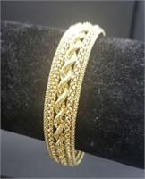 "18k Yellow Gold Ladies 7.5"" Wide Bracelet 19.7g"