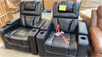 2 ABBYSON LIVING HOME THEATER POWER RECLINERS