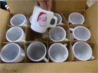 24 Anchor Hocking Santa mugs - MIB