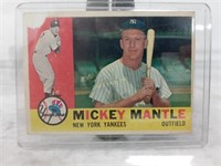 1960 Topps Baseball Card #350 Mickey Mantle