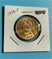 1898-P $10 Gold Liberty Super Nice Coin – Great