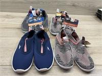 4 pairs swim shoes. 1 pair size 4-5. 2 pairs size