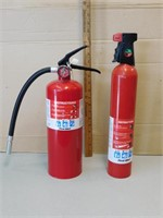 Lot of 2 Fully Charged Fire Extinguishers