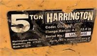 (3) Harrington 5 Ton Beam Clamps
