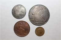 Coins with Gold and Silver Jewelry Online Auction