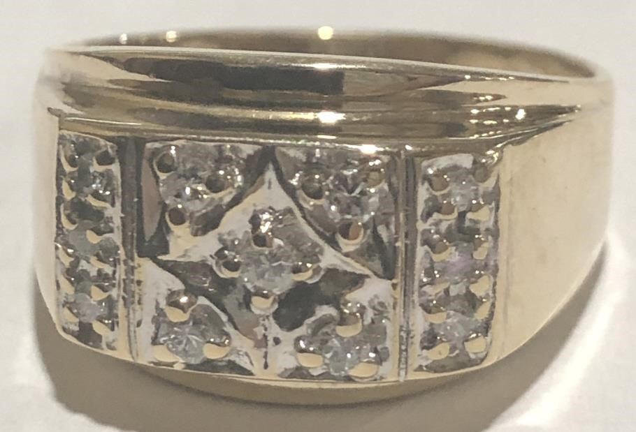 10KT YELLOW GOLD MENS RING 6.40 GRS