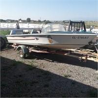 Crestliner Boat Trailer & Evenrude Motor