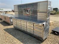 10ft 20-Drawer Heavy Duty Workbench Cabinet Combo