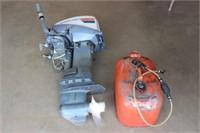 Evinrude boat motor w/gas tank