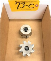 (2) SUMITOMO CARBIDE INSERT SHELL MILL CUTTERS